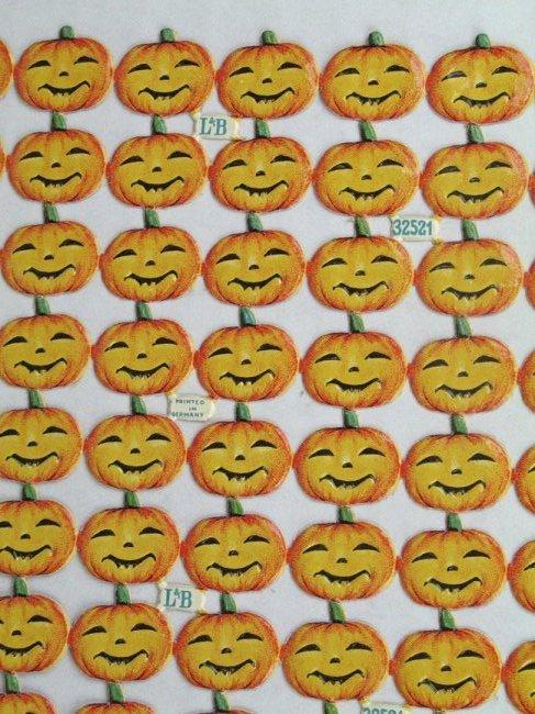 German Die Cut Halloween Mint Sheet
