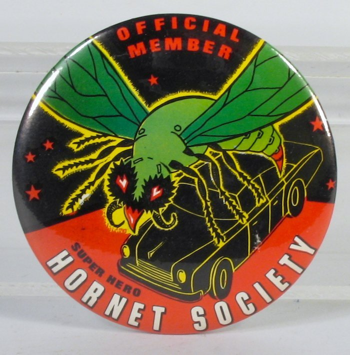Green Hornet Pinback Original Warehouse Stock