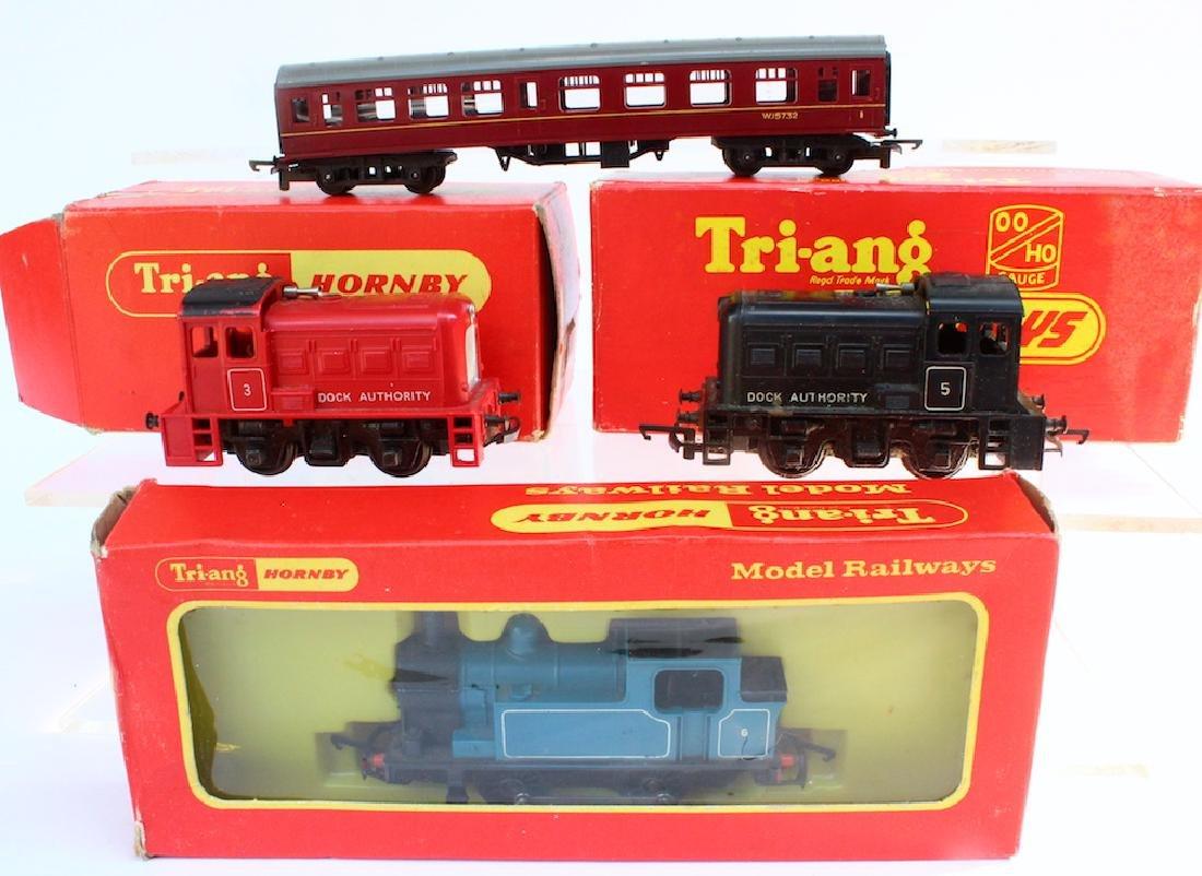 Tri-Ang Hornby 3 Boxed Locomotives &Car