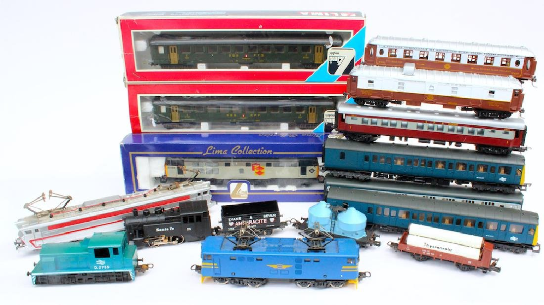Lima HO Train Lot with 5 Engines