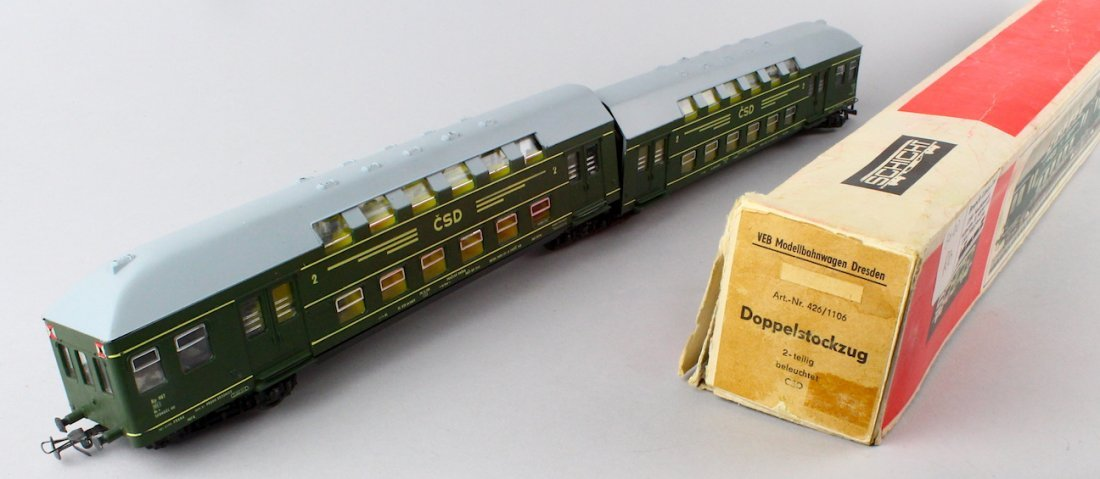Schicht HO Doppel Stockzug HO Train In Box - 3
