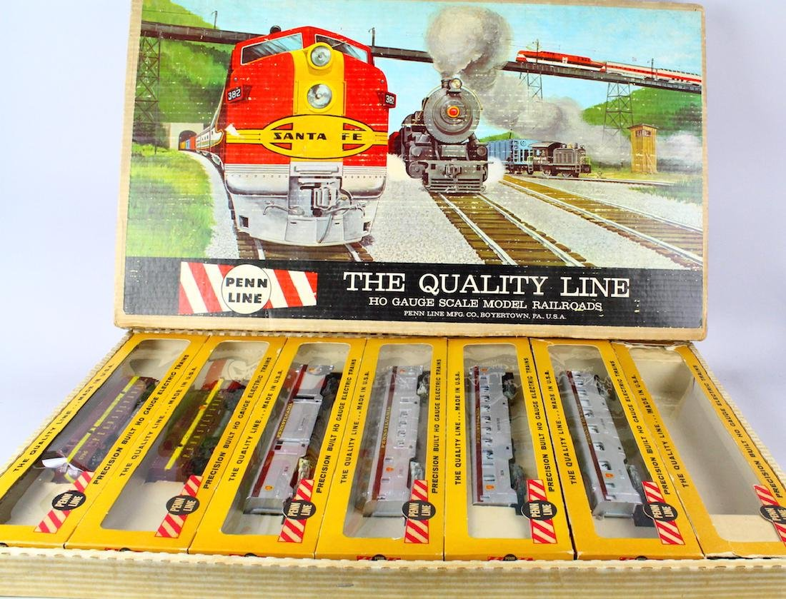 Penn Line Santa Fe Train Set in Box Complete