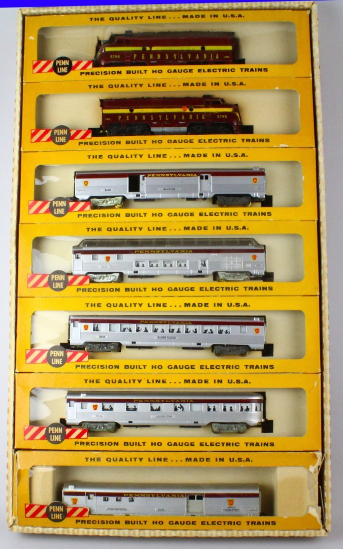 Penn Line Santa Fe Train Set in Box Complete - 2