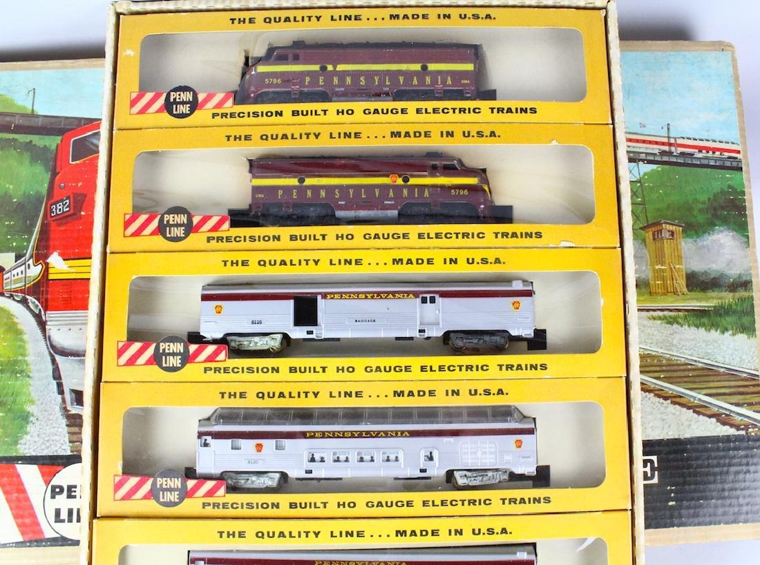 Penn Line Santa Fe Train Set in Box Complete - 3