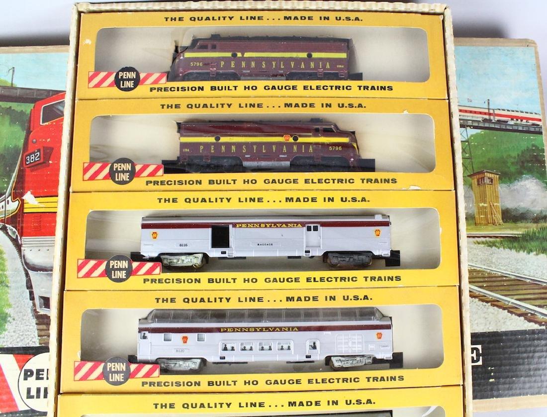 Penn Line Santa Fe Train Set in Box Complete - 4