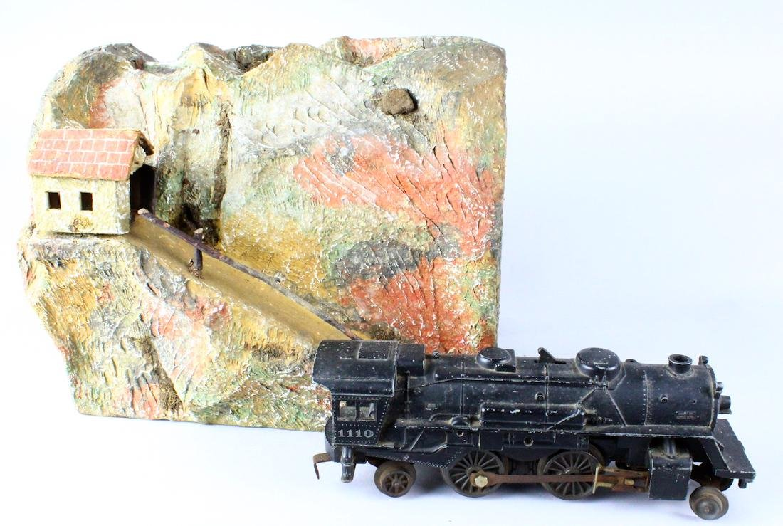 Lionel 1011 Engine and Mountain Tunnel