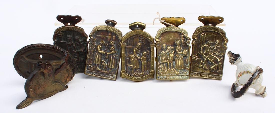 Bronze and Brass Door Knocker Group - 2