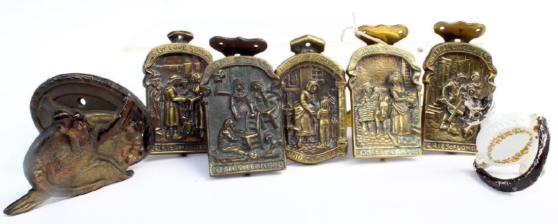 Bronze and Brass Door Knocker Group - 3