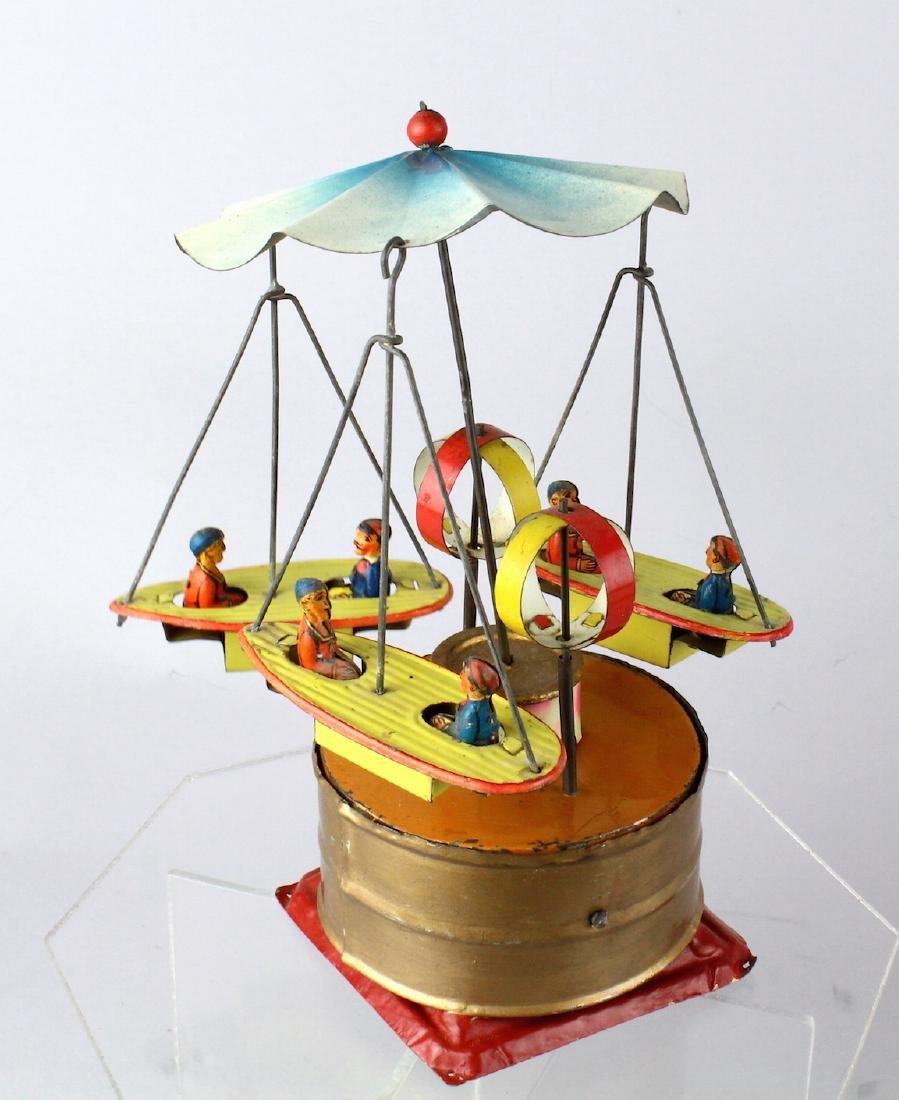German Tin Boat Carousel Steam Toy
