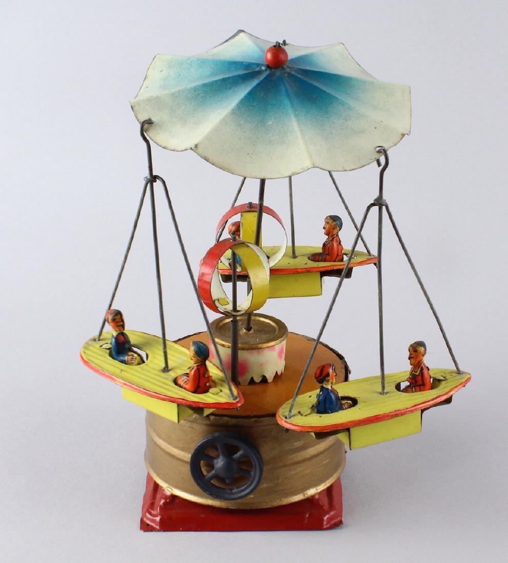 German Tin Boat Carousel Steam Toy - 3