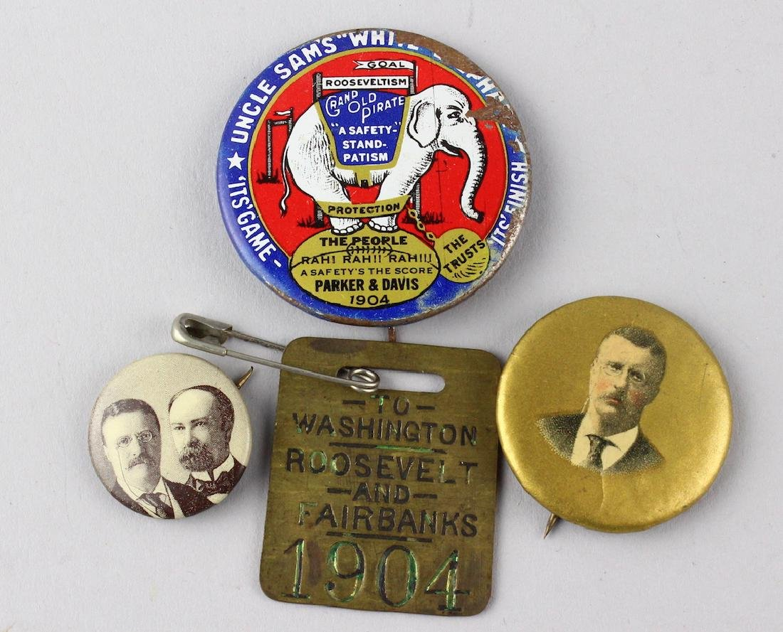 1904 Roosevelt & Fairbanks President Campaign Buttons