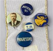1912 Roosevelt Bull Moose Campaign Buttons