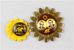1936 Landon & Knox Presidential Campaign Buttons