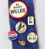 1940 Wendall Wilkie & McNary Campaign Pins