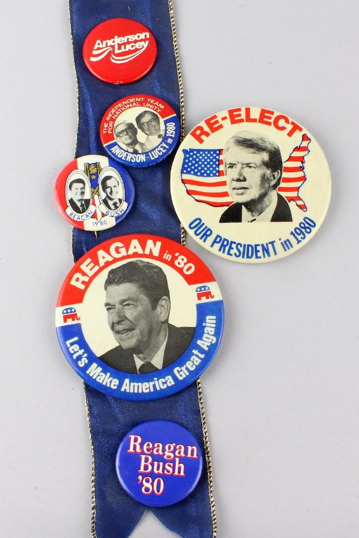 1980 Reagan, Carter and Anderson Pins