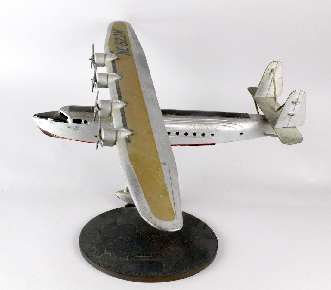 1930s Travel Agent Pan Am Airplane Flying Clipper Large - 10