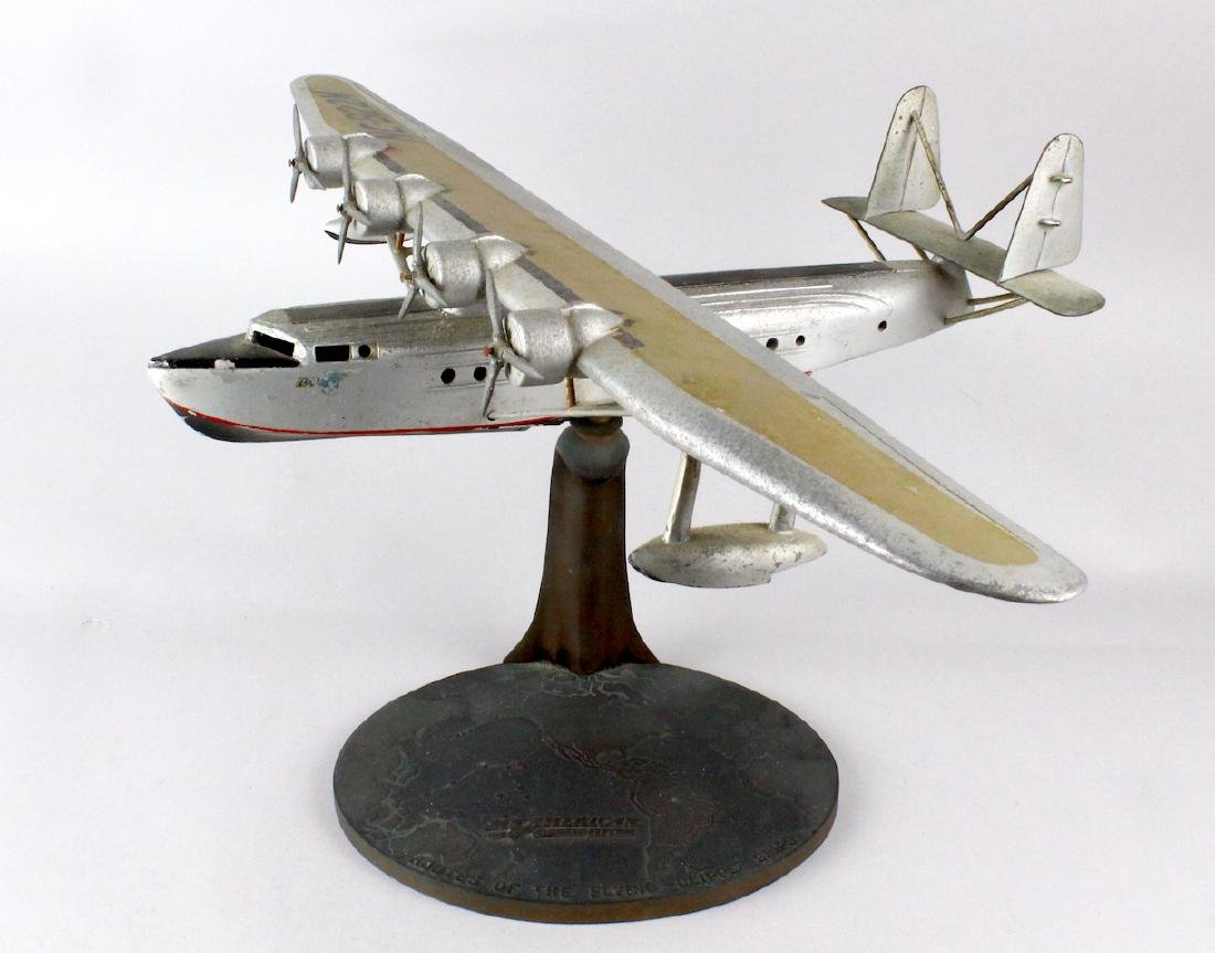 1930s Travel Agent Pan Am Airplane Flying Clipper Large - 2