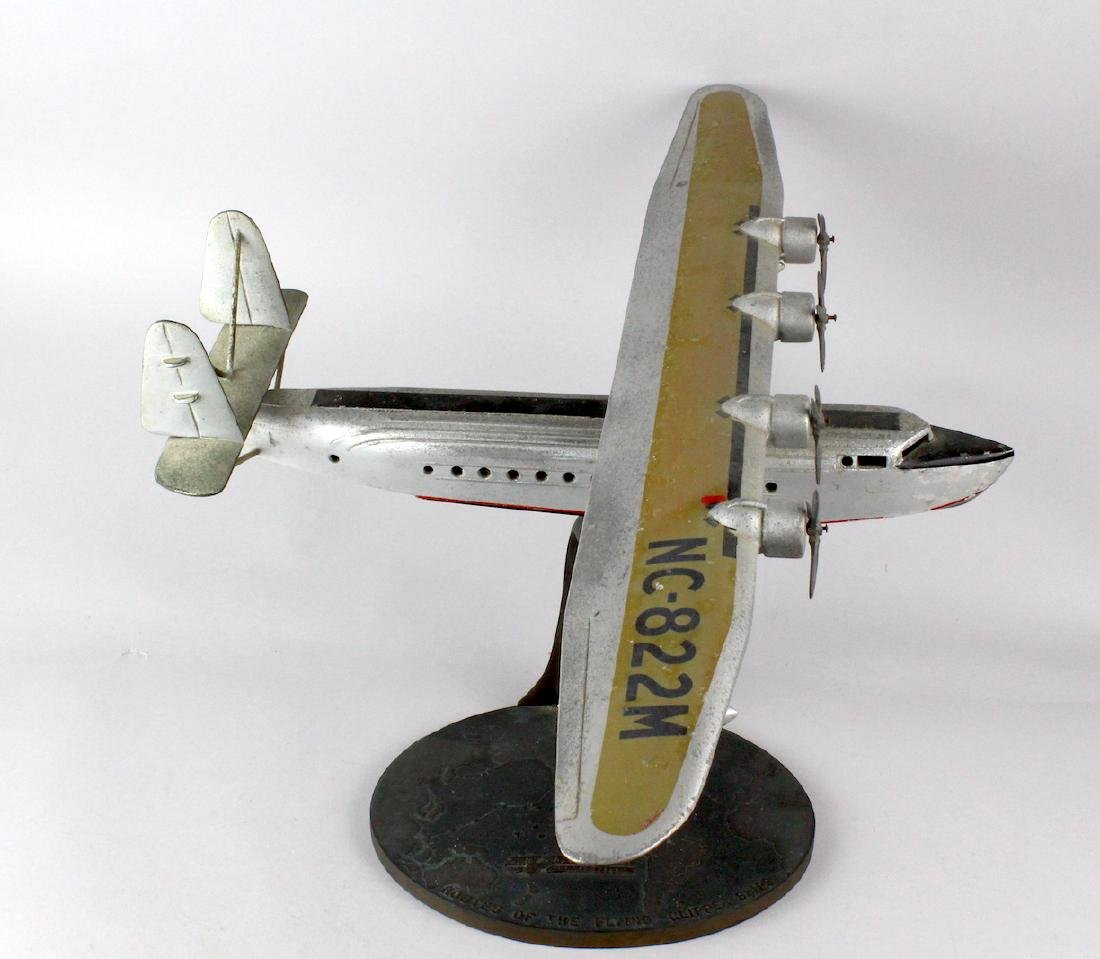 1930s Travel Agent Pan Am Airplane Flying Clipper Large - 4