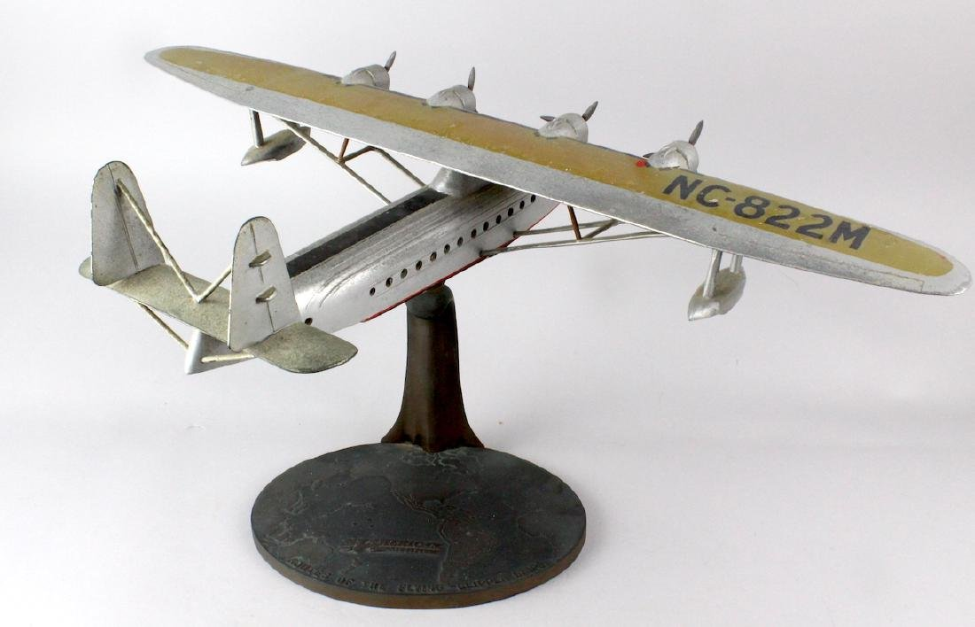1930s Travel Agent Pan Am Airplane Flying Clipper Large - 5