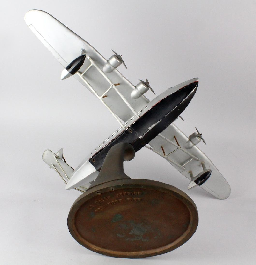 1930s Travel Agent Pan Am Airplane Flying Clipper Large - 6