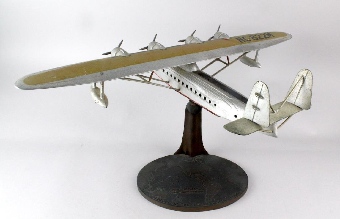1930s Travel Agent Pan Am Airplane Flying Clipper Large - 8