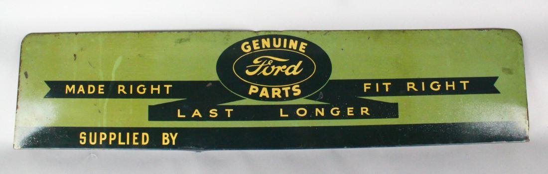 1930s Ford Genuine Parts Dealership Sign Scarce!