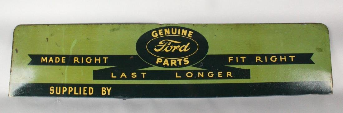 1930s Ford Genuine Parts Dealership Sign Scarce! - 2