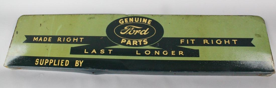 1930s Ford Genuine Parts Dealership Sign Scarce! - 3