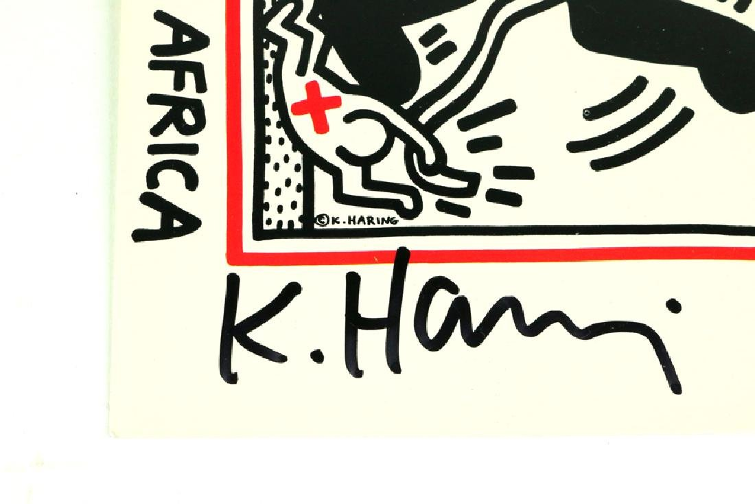 Keith Haring Free South Africa Signed Postcard - 2