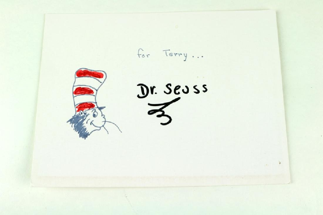 Dr Suess Hand Signed  Hand Drawn Cartoon