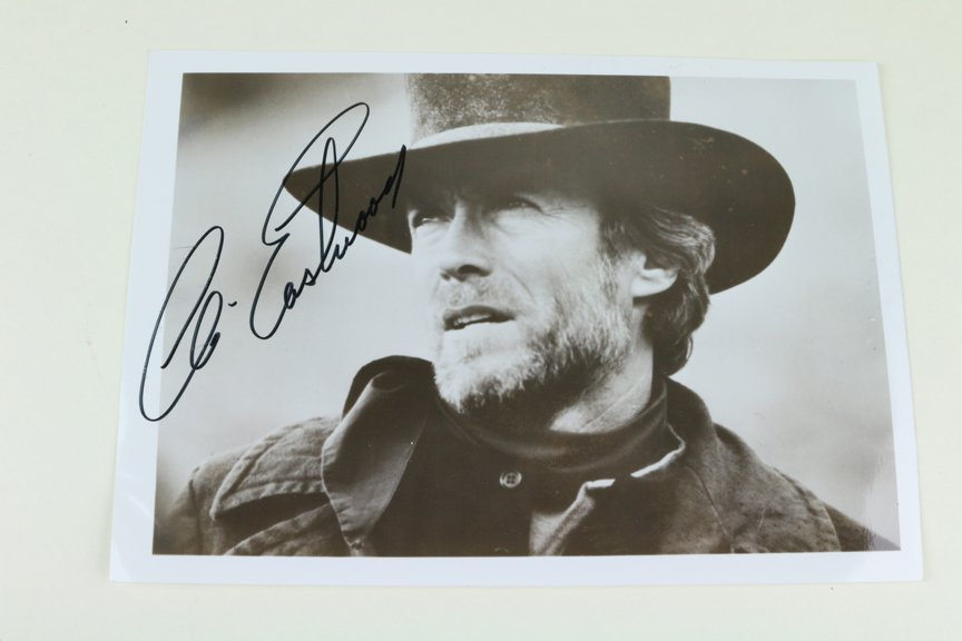 Clint Eastwood Signed Outlaw Josie Wales Era Photo