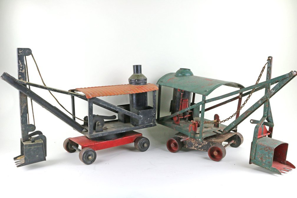 Buddy L Keystone Pressed Steel Steam Crane Tractor Lot