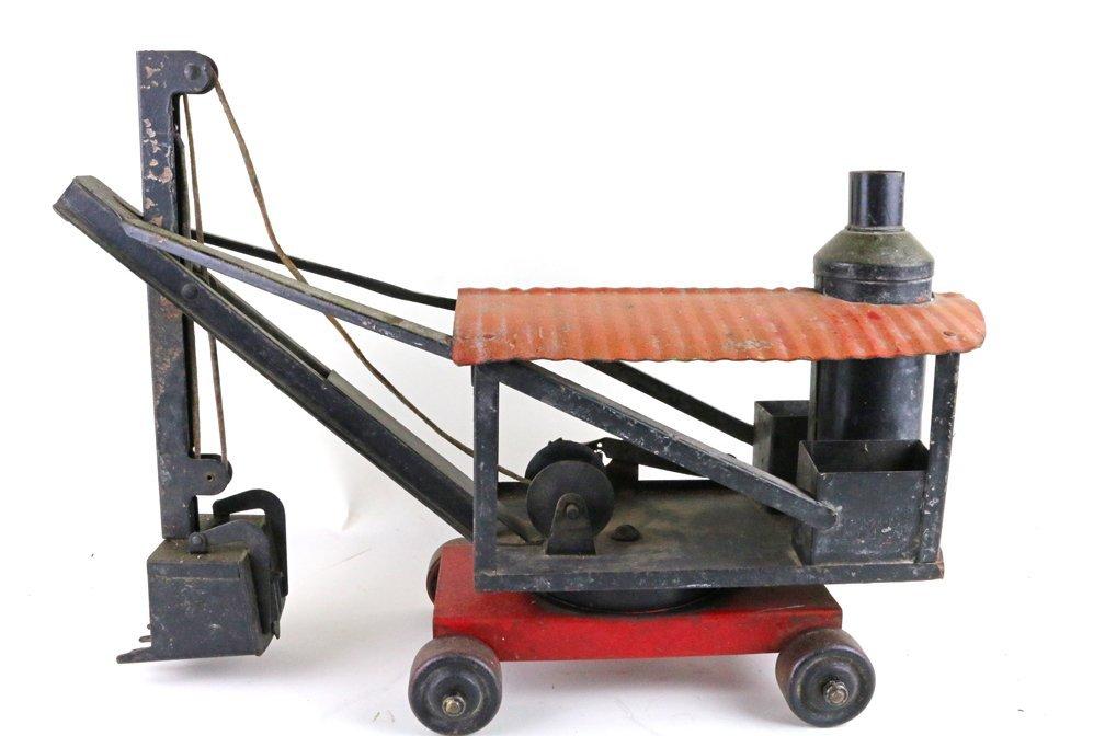Buddy L Keystone Pressed Steel Steam Crane Tractor Lot - 4