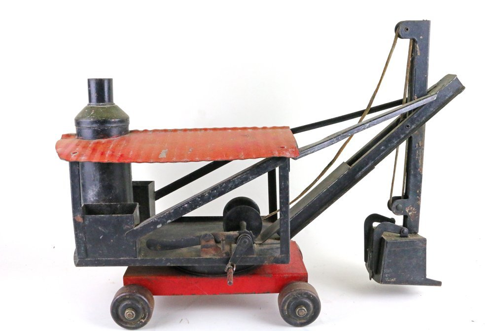 Buddy L Keystone Pressed Steel Steam Crane Tractor Lot - 5