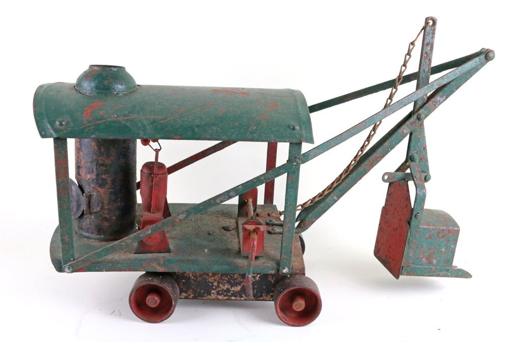 Buddy L Keystone Pressed Steel Steam Crane Tractor Lot - 6