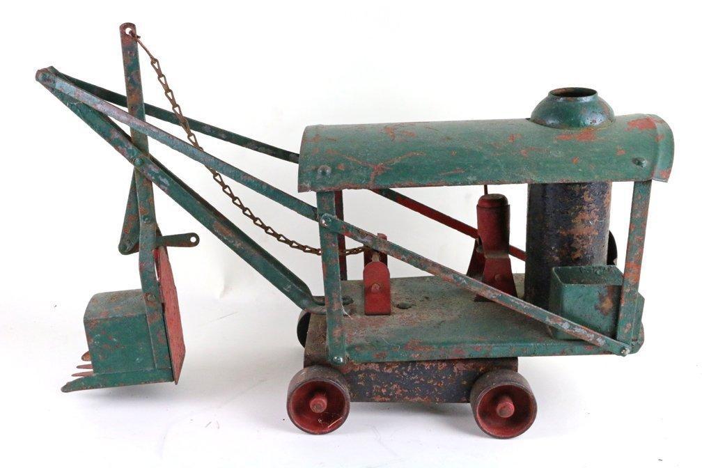 Buddy L Keystone Pressed Steel Steam Crane Tractor Lot - 7