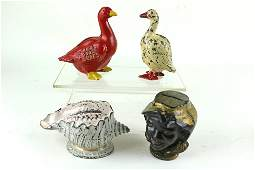 Red Goose Advertising Shellout Cast Iron Bank Lot