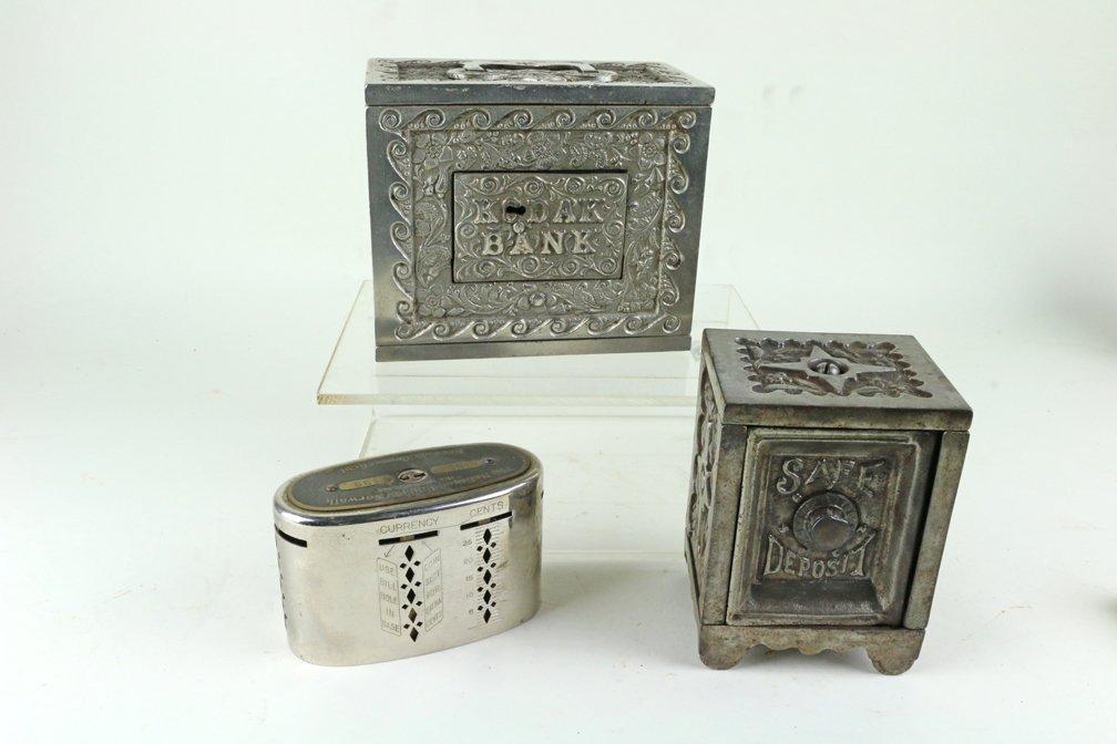 Kodak Safe Deposit Cast Iron Bank Lot