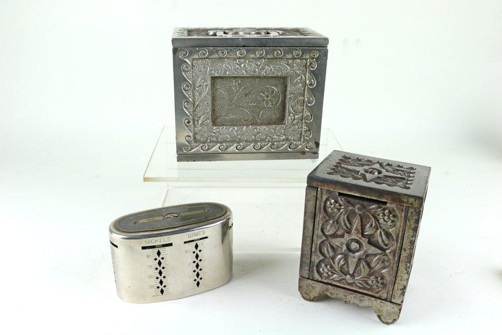 Kodak Safe Deposit Cast Iron Bank Lot - 2