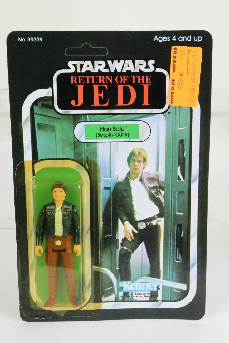 Star Wars Return Of Jedi Hans Solo figure MIP 1983
