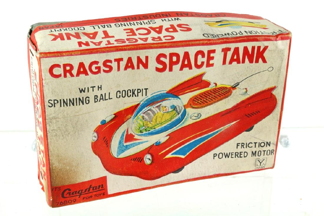 Cragston Space Tank NOS, Friction Tin Litho