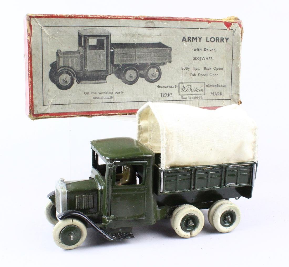 Britains Army Lorry & Box - 2