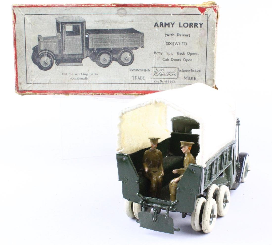 Britains Army Lorry & Box - 4
