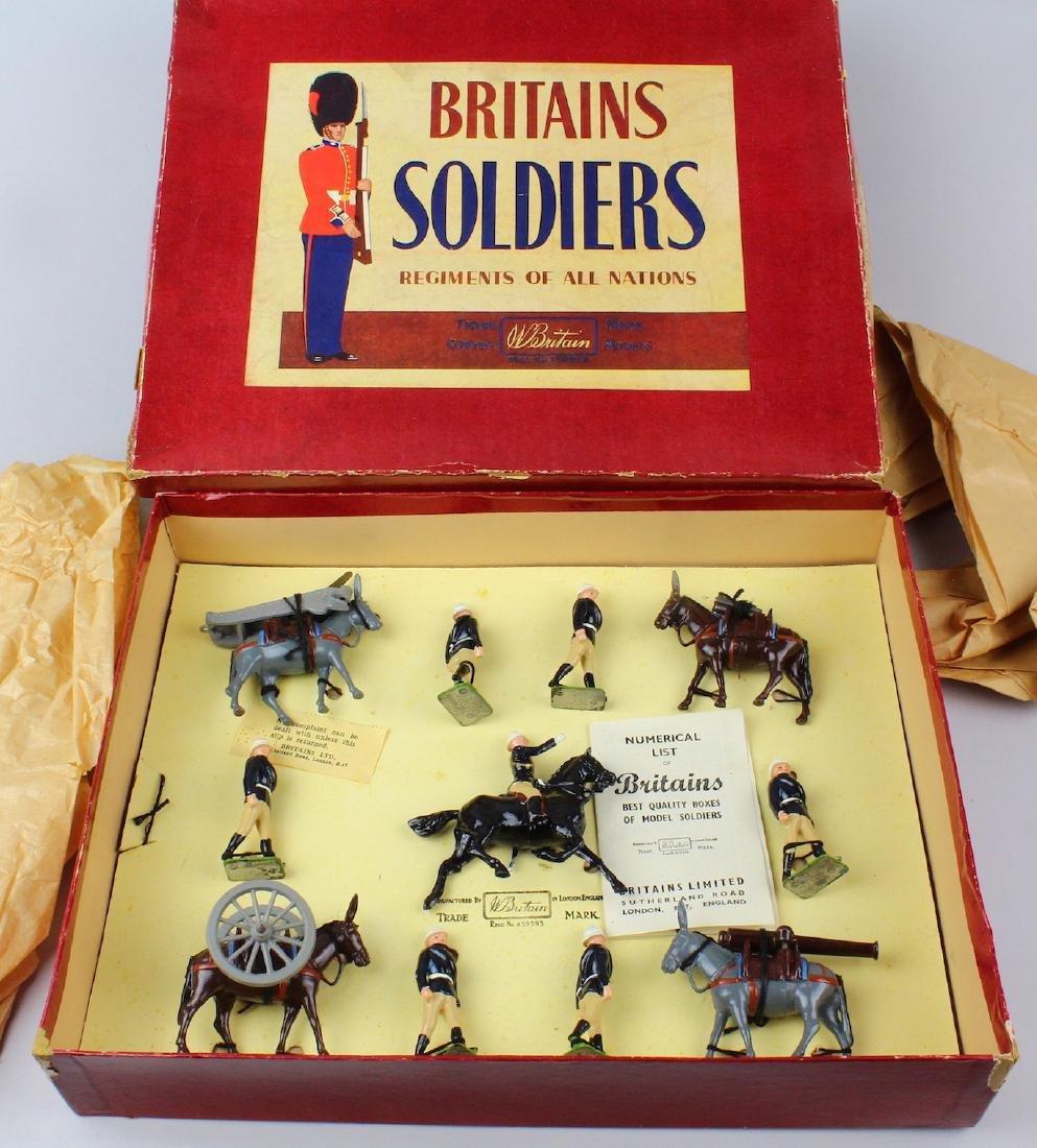 Britains #28 Royal Artillery Mountain Gun Set