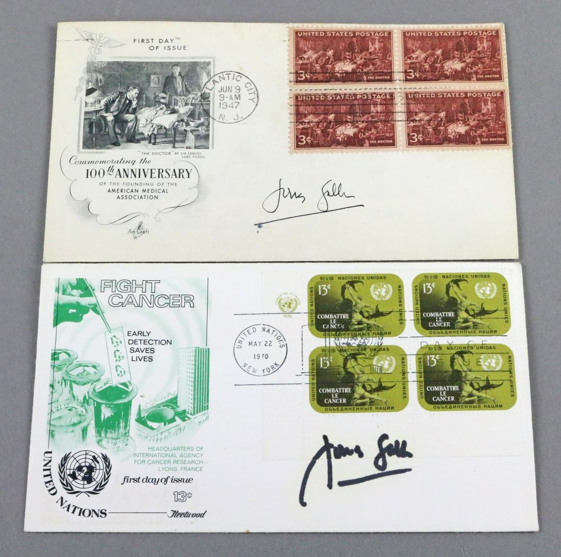Jonas Salk First Day Covers Signed