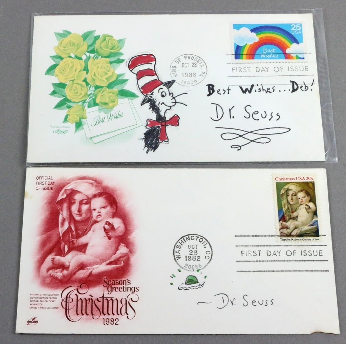 Dr Seuss Drawings Cat in the Hat First Day Covers