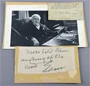 Thomas Edison Signed Note