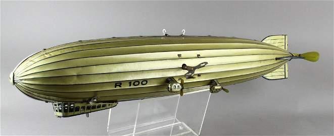 Tippco German Tin Large Zeppelin Airship R100