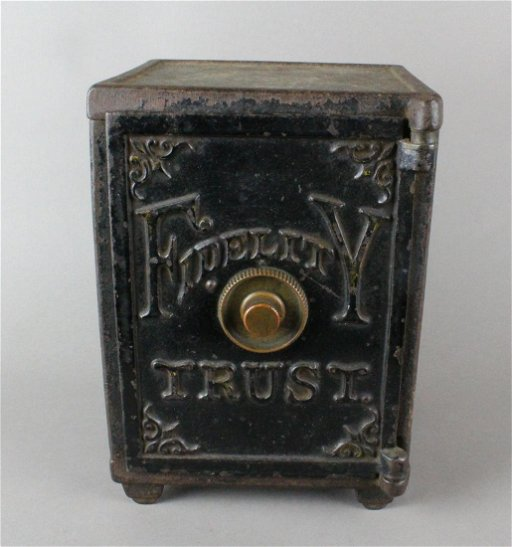 Fidelity Trust Cast Iron Bank Safe