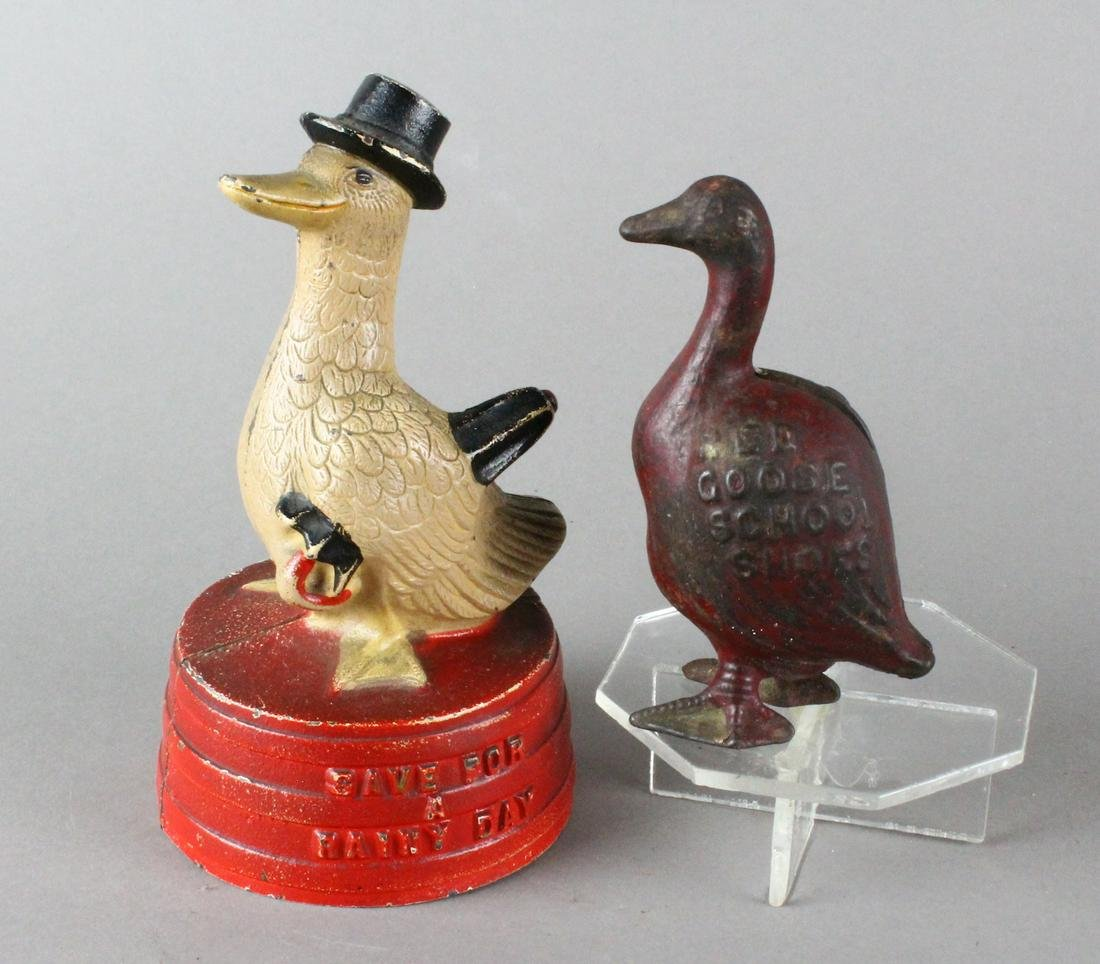 Hubley Duck & Red Goose Shoes Banks